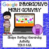 Shape Sorting Heirarchy Interactive Google Classroom Activ