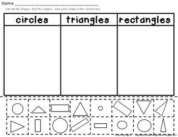 Shape Sorting K.G.2 Circle, Triangle, Rectangle
