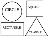 Shape Sorting Mat - Circle, Square, Rectangle, and Triangle