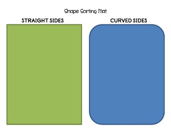 Shape Sorting Mat -- Curved vs Straight shapes
