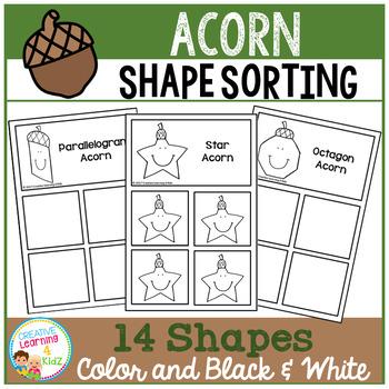 Shape Sorting Mats: Acorn