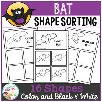 Shape Sorting Mats: Bat