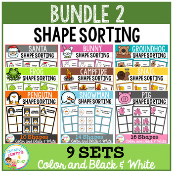 Shape Sorting Mats: Bundle 2