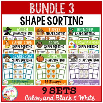 Shape Sorting Mats: Bundle 3