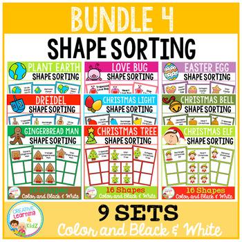Shape Sorting Mats: Bundle 4