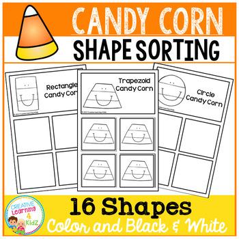Shape Sorting Mats: Candy Corn