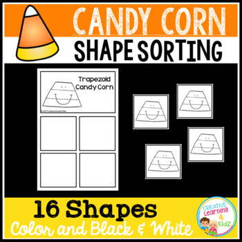 Shape Sorting Mats: Candy Corn