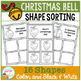 Shape Sorting Mats: Christmas Bell