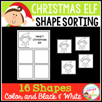 Shape Sorting Mats: Christmas Elf