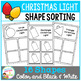 Shape Sorting Mats: Christmas Light