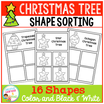 Shape Sorting Mats: Christmas Tree