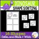 Shape Sorting Mats: Dinosaur