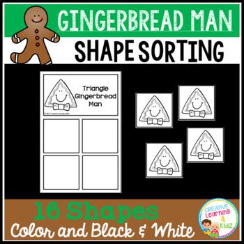 Shape Sorting Mats: Gingerbread Man
