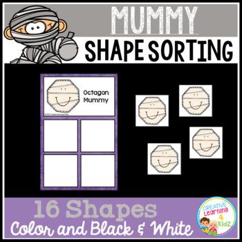 Shape Sorting Mats: Mummy