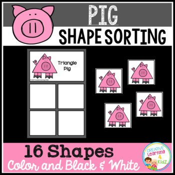Shape Sorting Mats: Pig