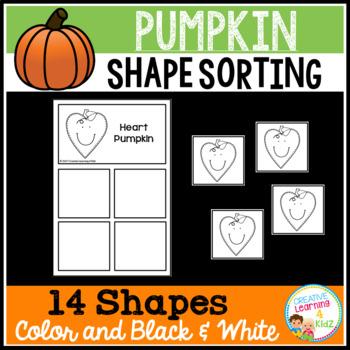 Shape Sorting Mats: Pumpkin