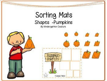 Shape Sorting Mats -Pumpkins