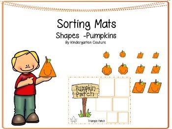 Shape Sorting Mats -Pumpkins