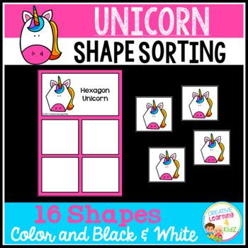 Shape Sorting Mats: Unicorn