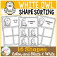 Shape Sorting Mats: White Owl