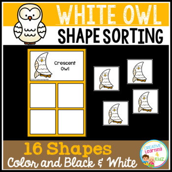 Shape Sorting Mats: White Owl