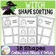 Shape Sorting Mats: Witch