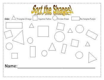 Shape Sorting Page