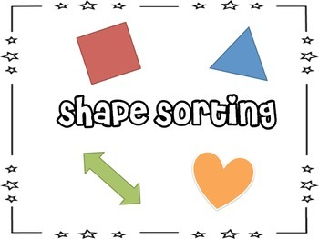 Shape Sorting Pages
