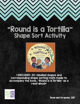 Shape Sorting Pictures and Mats // Round is a Tortilla Companion Activity