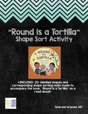 Shape Sorting Pictures and Mats // Round is a Tortilla Com