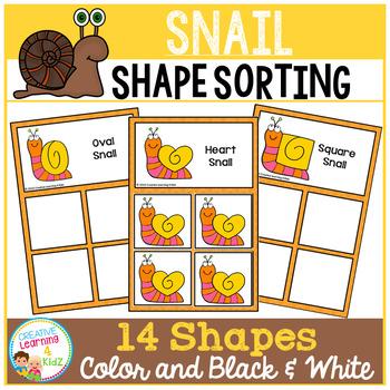 Shape Sorting Mats: Snail