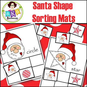 Christmas Shapes Activity ● Santa Shape Sorting Mats ● Sorting Activities