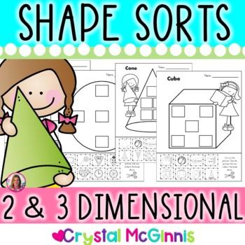 Shape Sorts! 2 & 3 Dimensional  Sorts With Environmental Shapes