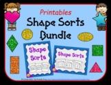 Shape Sorts Printables Bundle   Distance Learning