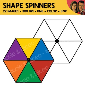 Shape Spinners Clipart