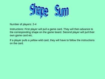 Shape Sum - Adding Sides (english & spanish)