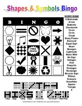 Shape & Symbols Bingo - Free
