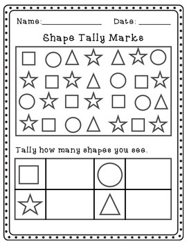 Shape Tally, Graph, and Data Interpretation