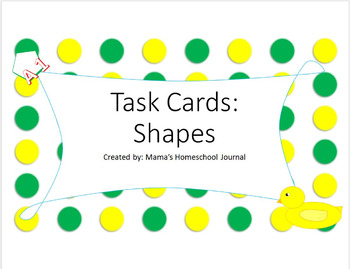 Shape Task Cards
