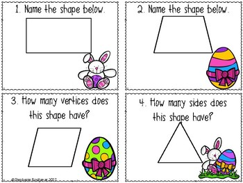 Shape Task Cards (Easter)
