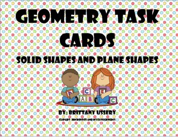 Shape Task Cards - Plane and Solid Shapes