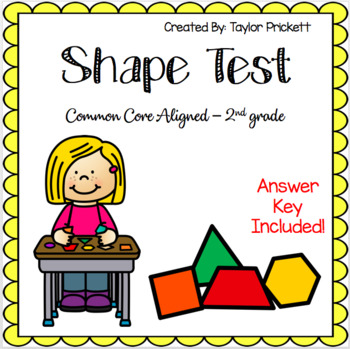 Shape Test with answer key!