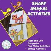 Shape Tiger  Lion Craft Fine Motor and Writing Activities