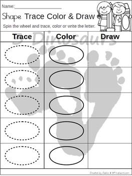 Shape Trace, Color & Draw