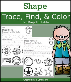 Shape Trace Find & Color