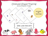 Shape Tracing Pack with Animals