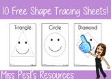 Shape Tracing Sheets