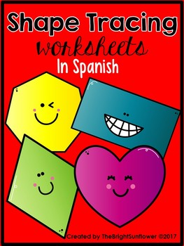 Shape Tracing Worksheets in Spanish