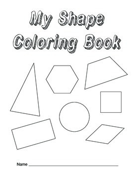 Shape Tracing and Coloring Book