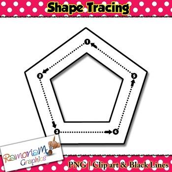 Shape Tracing clip art